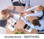 image of business partners... | Shutterstock . vector #386976481