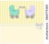 baby shower announcement twins  ...   Shutterstock .eps vector #386979385
