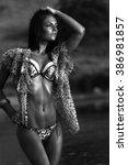 people  fashion  swimwear ... | Shutterstock . vector #386981857