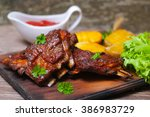 Appetizing Rosy And Barbecued...