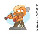 a series of characters on the... | Shutterstock . vector #386987215