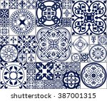 vector illustration of moroccan ... | Shutterstock .eps vector #387001315