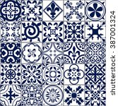 vector illustration of moroccan ... | Shutterstock .eps vector #387001324