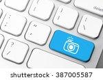 camera   social media icon on... | Shutterstock . vector #387005587