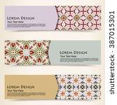 multicolored set of horizontal... | Shutterstock .eps vector #387015301