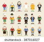vector set of characters in a... | Shutterstock .eps vector #387016027