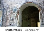 arch in the wall with mural... | Shutterstock . vector #38701879