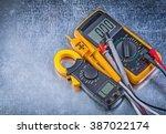 digital clamp meter electric... | Shutterstock . vector #387022174