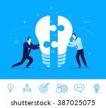 flat design vector concept... | Shutterstock .eps vector #387025075