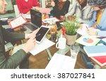 start up team at work in a...   Shutterstock . vector #387027841