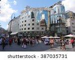 vienna  austria july 4. haas... | Shutterstock . vector #387035731