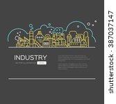 modern line style design  ... | Shutterstock .eps vector #387037147