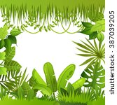 jungle plants. background.... | Shutterstock .eps vector #387039205