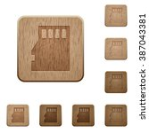 set of carved wooden micro sd...