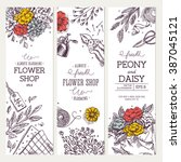 flower shop banner collection.... | Shutterstock .eps vector #387045121