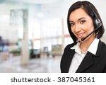customer service representative. | Shutterstock . vector #387045361