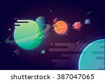 colorful vibrant fantastic... | Shutterstock .eps vector #387047065