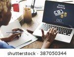 online banking financial... | Shutterstock . vector #387050344