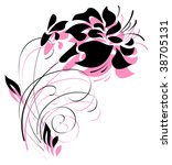 decorative flower in black and... | Shutterstock .eps vector #38705131