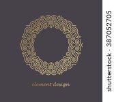 vector design element. template ... | Shutterstock .eps vector #387052705