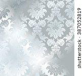 vector baroque seamless damask... | Shutterstock .eps vector #387052819