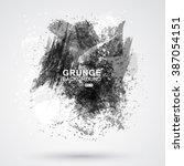 vector figured brush strokes... | Shutterstock .eps vector #387054151