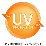 uv protection logo  ... | Shutterstock .eps vector #387057475