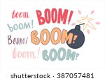 a vector lettering boom in...