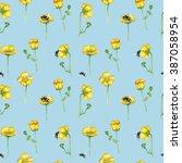 Flower Field Pattern  Buttercu...