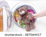 Teddy Bear In A Washing Machin...
