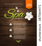 spa resort or beauty business... | Shutterstock .eps vector #387064471