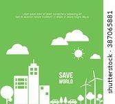 save world vector illustration. | Shutterstock .eps vector #387065881