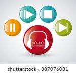 sound icon design  | Shutterstock .eps vector #387076081