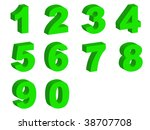 number letters in silhouette as ... | Shutterstock . vector #38707708