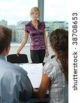 attractive woman applicant... | Shutterstock . vector #38708653