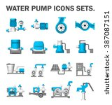 vector icon of water pump... | Shutterstock .eps vector #387087151