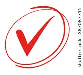 red tick symbol  check mark | Shutterstock .eps vector #387087715