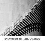 Heavy Shadow Of Stairway On Ol...