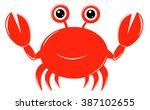 cute crab | Shutterstock .eps vector #387102655