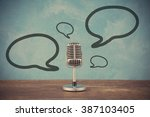 retro style microphone with... | Shutterstock . vector #387103405