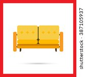 couch icon   Shutterstock .eps vector #387105937