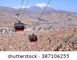 la paz  bolivia | Shutterstock . vector #387106255