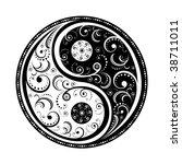 yin yang symbol vector...   Shutterstock .eps vector #38711011