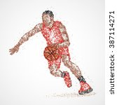 abstract basketball player of... | Shutterstock .eps vector #387114271