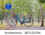 Bicycle Parking Sign In Public...