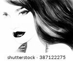 woman portrait .abstract... | Shutterstock . vector #387122275