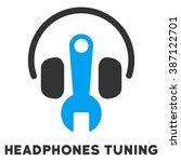 headphones tuning glyph icon... | Shutterstock . vector #387122701