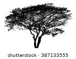 tree silhouette   detailed... | Shutterstock .eps vector #387133555