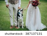 wedding. bride. wedding dress.... | Shutterstock . vector #387137131