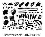 grunge brush stroke . vector... | Shutterstock .eps vector #387143101